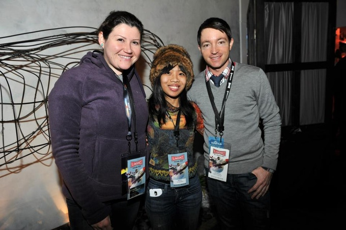 DP Chris Carrea on left at Slamdance
