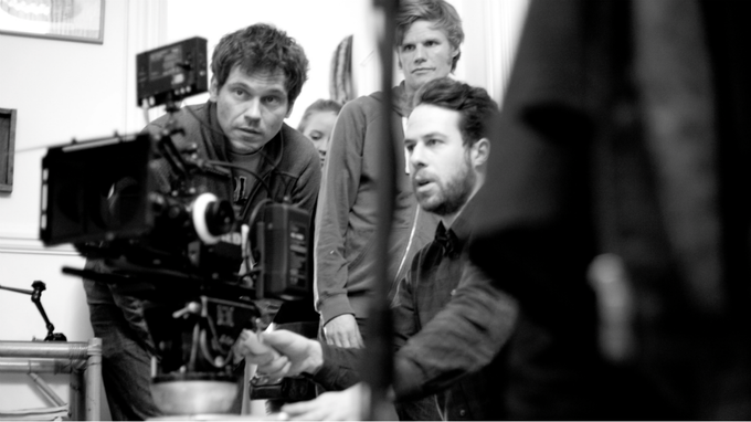 Director Marc Hardman, Director of Photography Ruaraid Achilleos-Sarll and Assistant Director Aaron Trinder on set of MOTHER