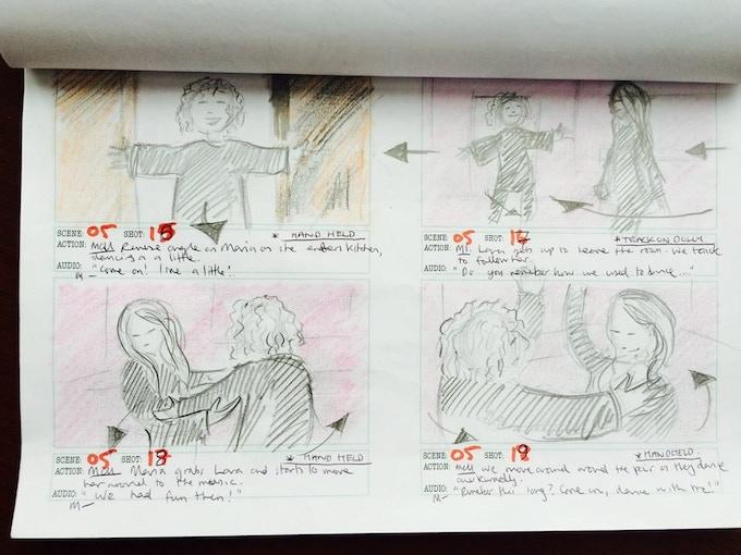 Storyboard by director Marc Hardman