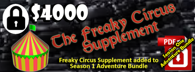 If we raise $4000, We will create a supplement tat explores the traveling circus in Al'tearth!