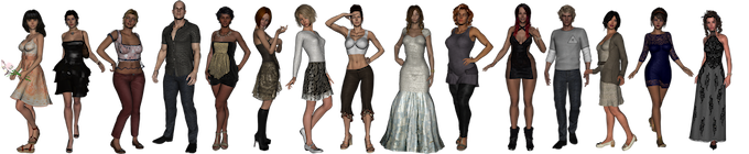 A wide variety of avatars - of all body types!
