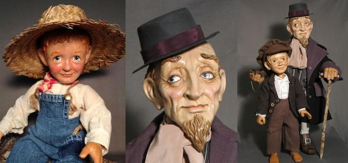 Huckleberry Finn,  Fagin,   Oliver Twist and Fagin