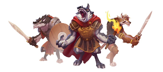 The Warhounds are a militant race that conquers their enemies with unbridled aggression.