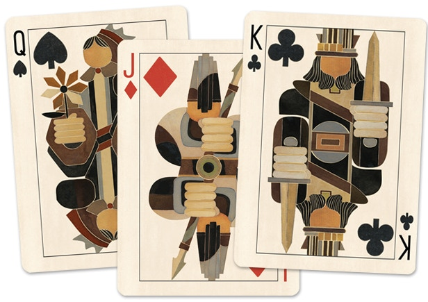 **Brut poker cards will share the same back design as the tarot cards.