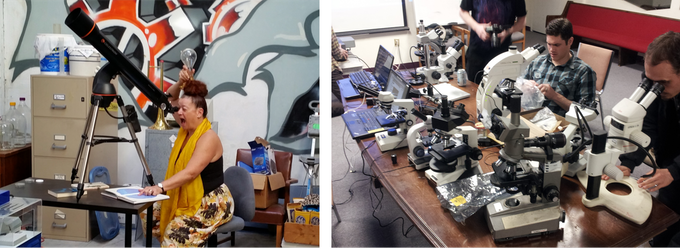 Microscopes and telescopes!