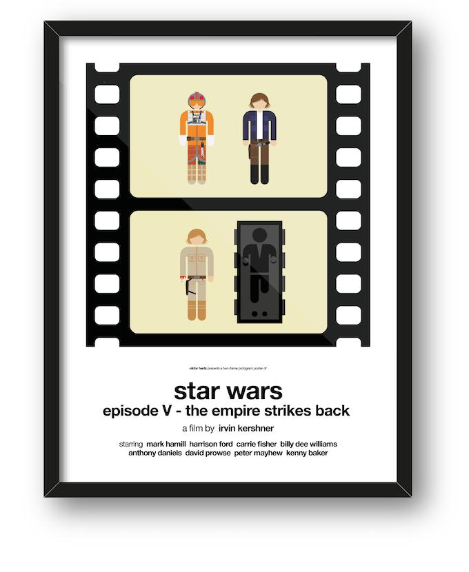 Two-frame pictogram movie posters by Viktor Hertz — Kickstarter
