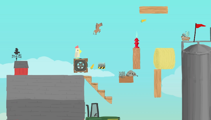 ultimate chicken horse how to play 2 player with keybord