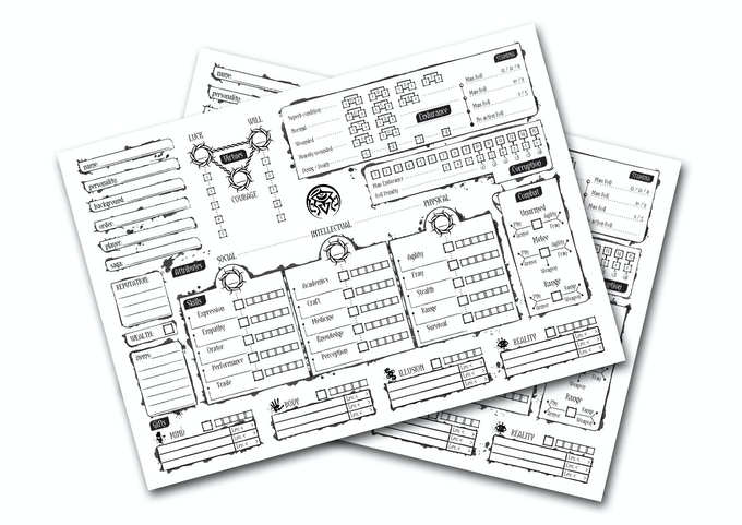 Awaken Character Sheet - click picture to download