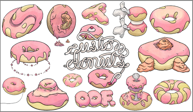 Custom donut samples from the past. You tell me how you like it - I'll draw it for you.