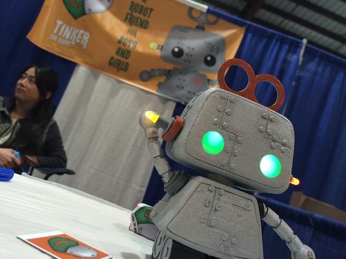Tinker the robot at MakerCon Pomona, CA
