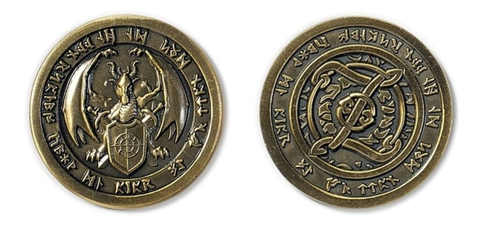 Cthulhu fantasy coins Fantasy Coins and Bars Kickstarter in 2019