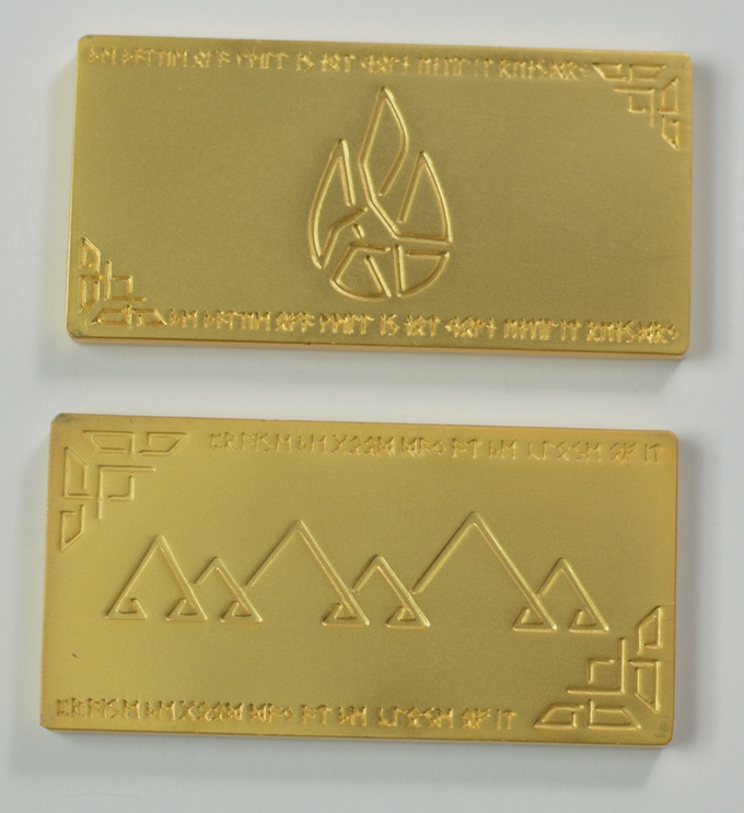 Small Gold/Platinum Bars:  60mm x 30mm x 4mm