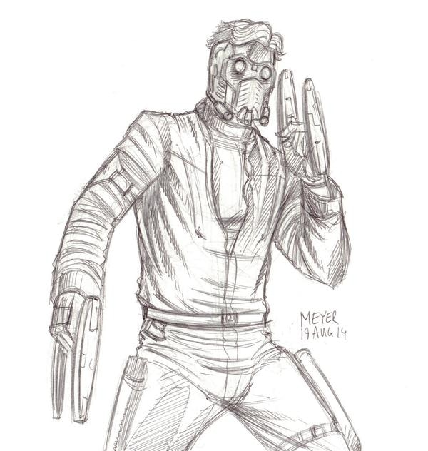 Ink sketch of Star-Lord for SKETCH RAFFLE