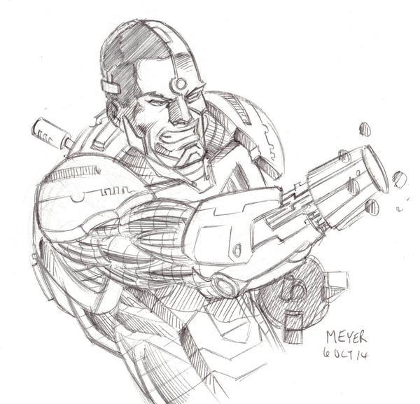 Cyborg from SKETCH RAFFLE
