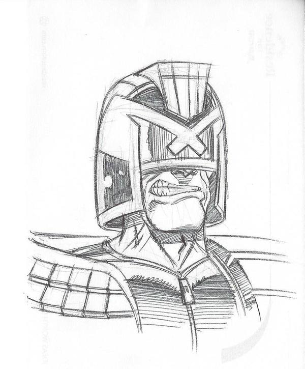 Judge Dredd from SKETCH RAFFLE