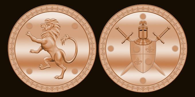 25mm Antique Copper