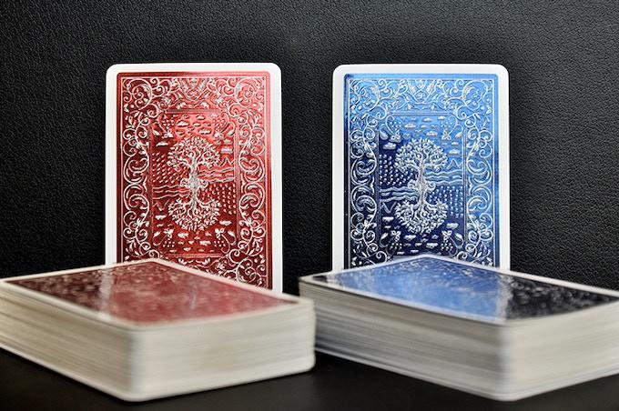 Red and Blue back foil decks