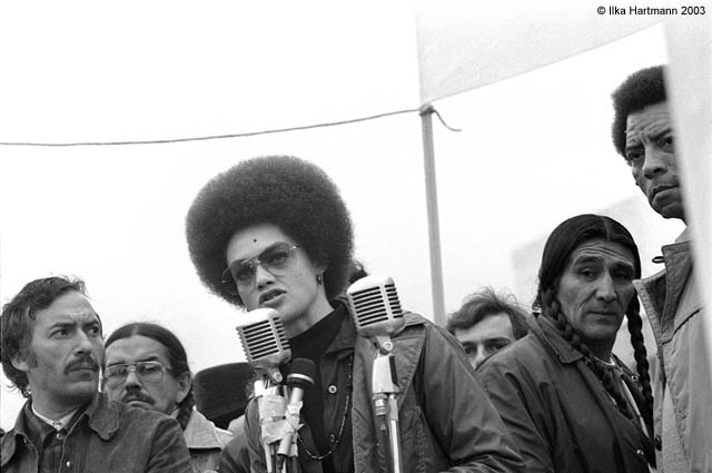 Signed and numbered 1976 photograph of Kathleen Cleaver by Ilke Hartmann