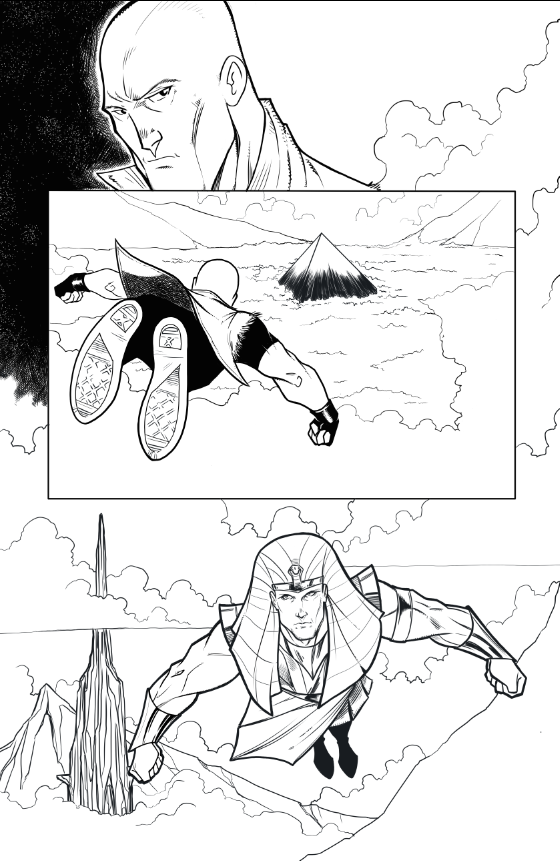 Finished/inked page by artist Tom Hodges.