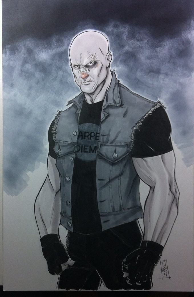 Character design by artist Tom Hodges.
