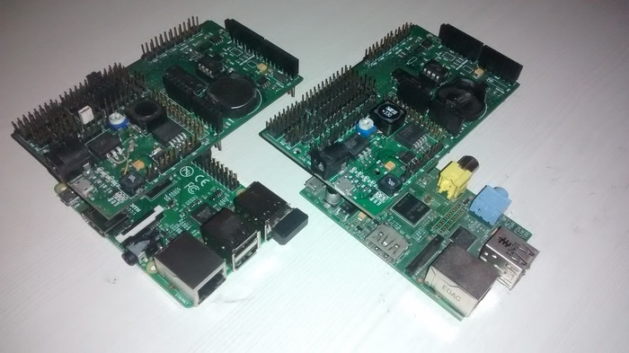 Prototype with Raspberry Pi B and B+