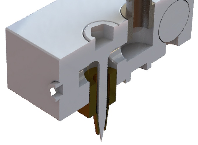 Sectional view of openings