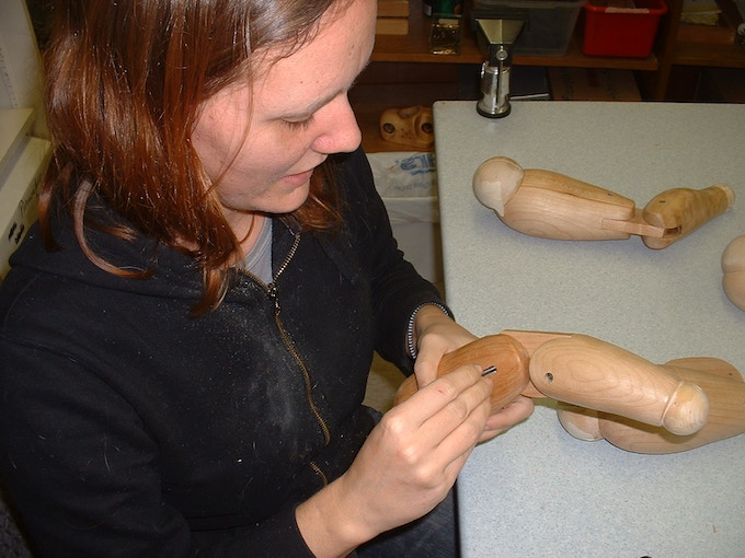 """Jesse putting the limbs for the 40"""" design together"""