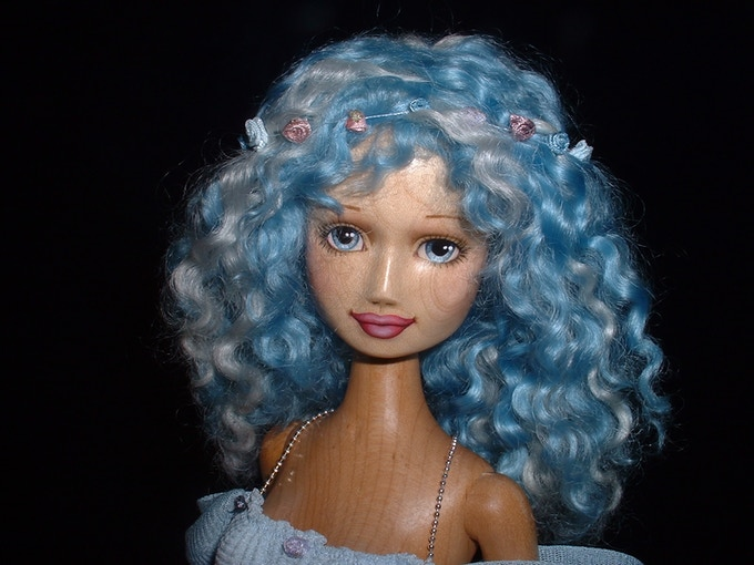 Full face view of the Blue Fairy