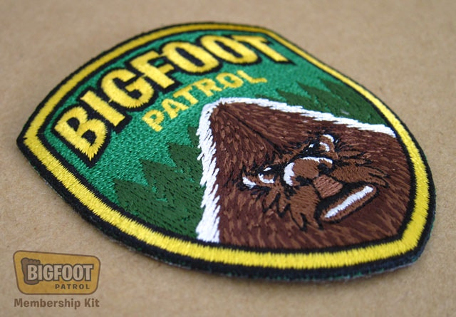"""Bigfoot Patrol"" embroidered patch."