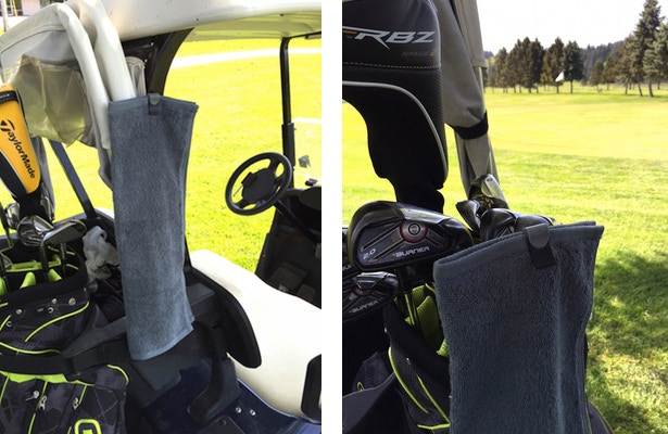 Cling them to your golf cart or toss it to the club!