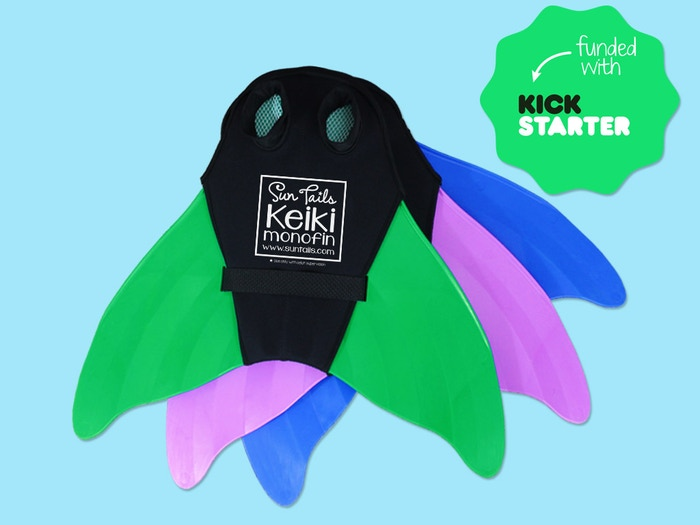 A durable and super comfy monofin swimfin for kids, teens, and adults.