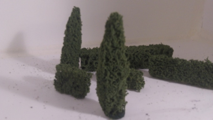 A first shot of our Groomed Trees, Hedgerows and urban foliage. These will come in a variety of styles and colors.