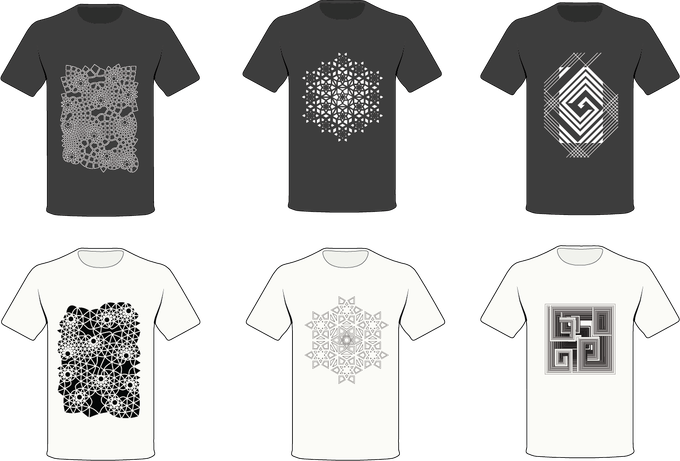 Left: Infinity Clothing, Middle: Reflection Clothing, Right, Bismuth Clothing