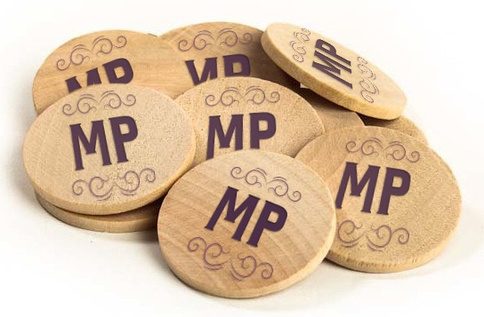 Wooden Nickels Redeemable for Sundaes