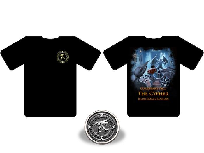 Guardians Inc. T-Shirt and Pin