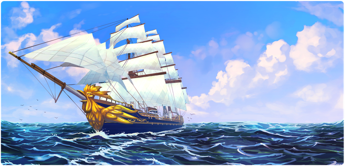 The Herald at sea