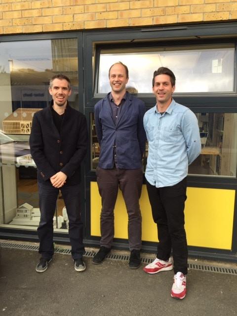 James, Chris and Matt outside Studio Octopi