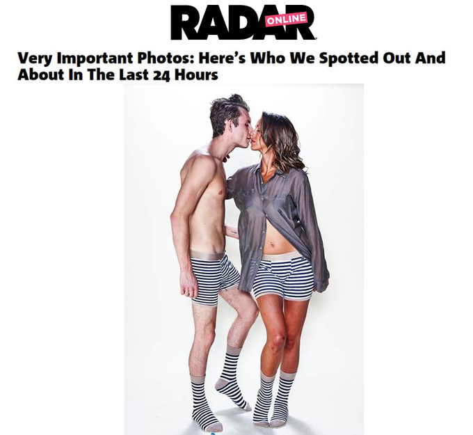 Vanderpump Rules' stars Kristen Doust and James Kennedy strip down to their underwear on set where the couple was shooting for the Related Garments campaign.
