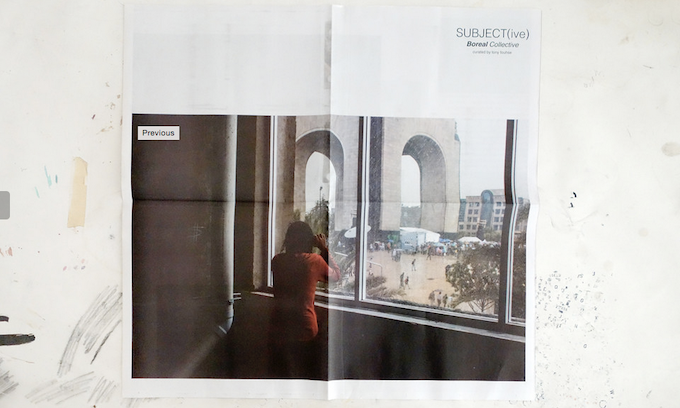 Boreal SUBJECT(ive) newsprint. 12 pages full colour. Newsprint.