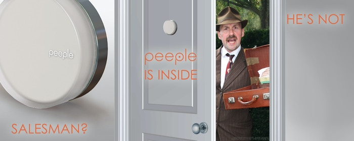 Keep people out without going to the door