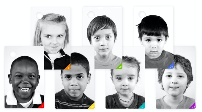 Emotions deck, sample cards mock-up