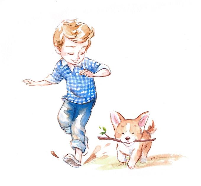 Pets deck, sample card illustration