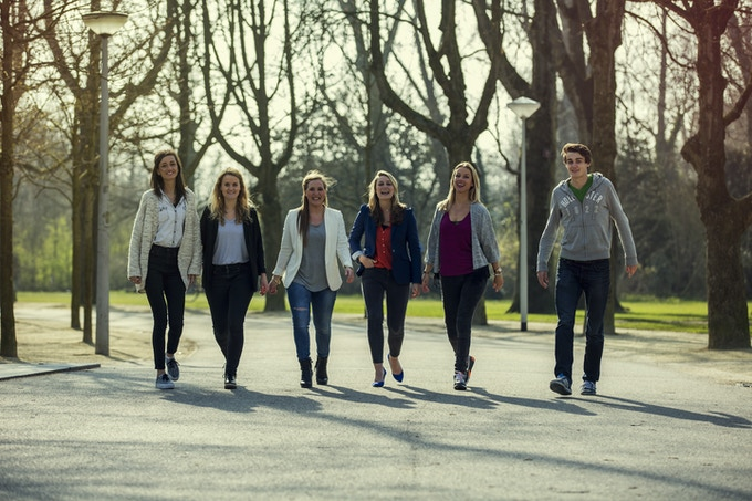 From left to right: Roos, Vivienne, Dorit, Myrthe, Kelly, Wouter