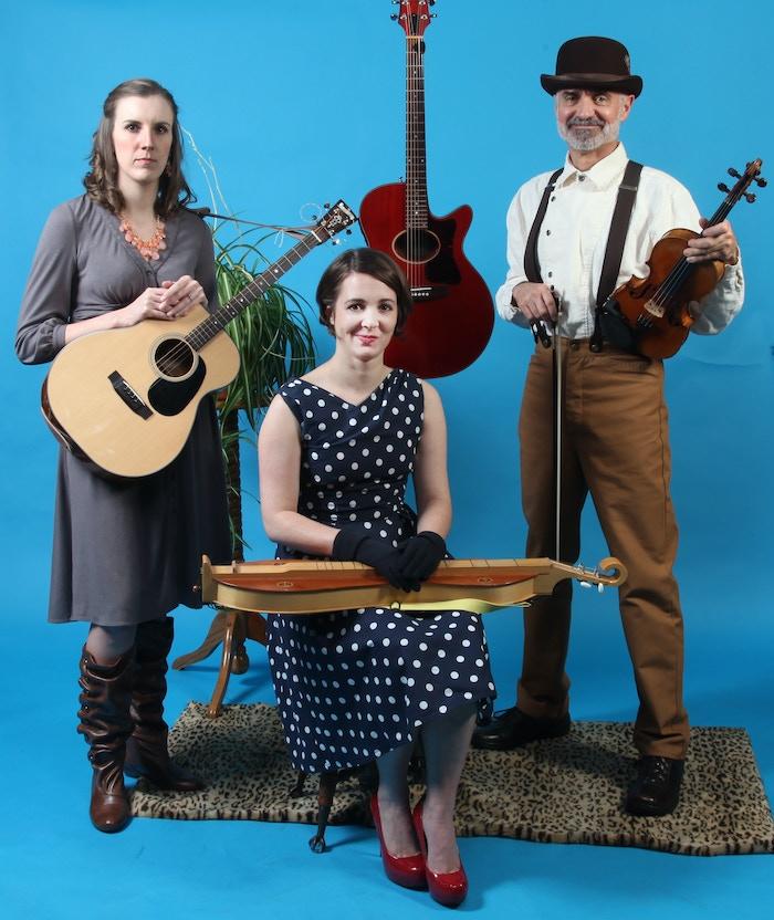 Live album w/bonus studio tracks. Fiddle, mandolin, banjo, dulcimer, 3 part harmony. Originals & covers - Wildwood Flower to Lady Gaga.
