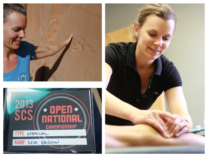 Dr. Lisa is focused on promoting safety and health in climbing.