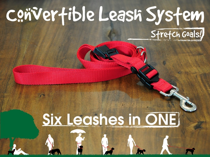 Not your typical adjustable leash, the Convertible Leash System combines 6 functions and can be custom sized to fit your needs!