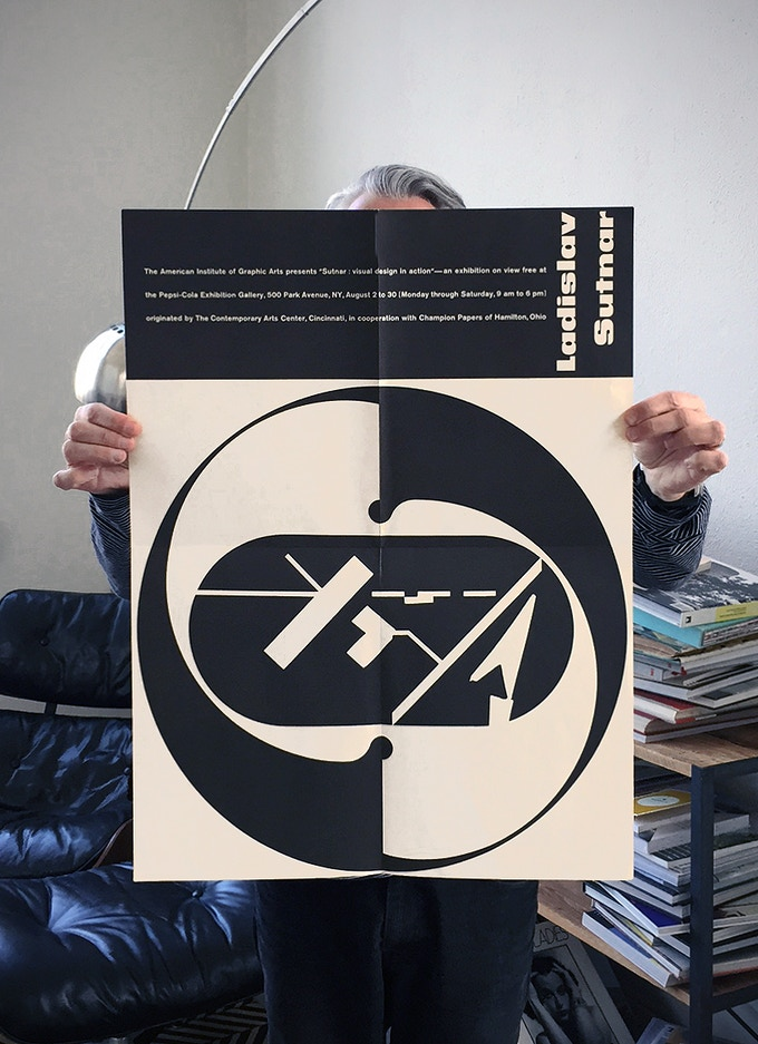 "Original exhibition poster for ""Ladislav Sutnar: Visual Design in Action,"" 1961. The reproduction being offered as a reward will ship rolled, not folded."