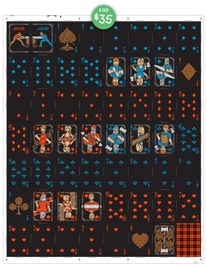 Add $35 to your pledge to receive the 2nd Edition uncut sheet.