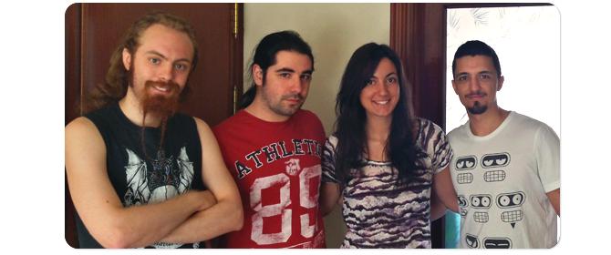 Chema, Juanlu, Marina, Carlos