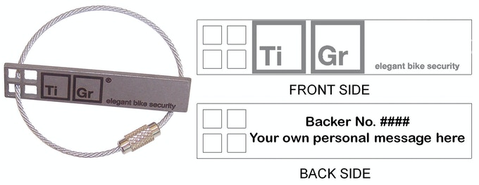TiGr® mini: cool, simple, light, secure titanium bike lock